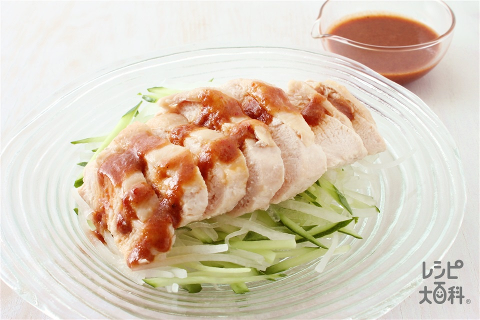ゆで鶏の怪味ソースがけ(鶏むね肉+大根を使ったレシピ)