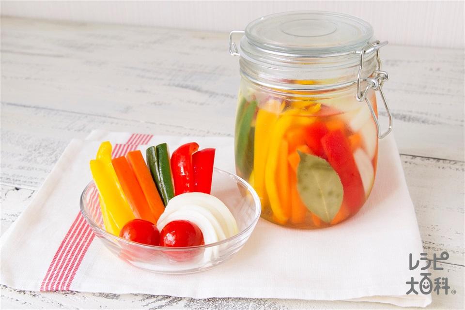 夏野菜のピクルス(ズッキーニ+玉ねぎを使ったレシピ)