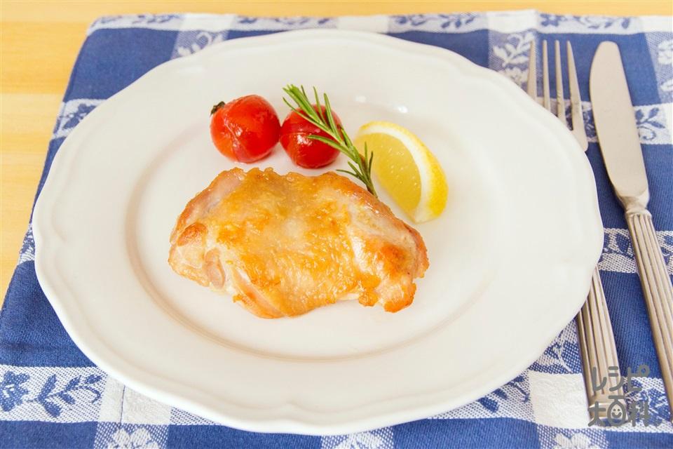 ガーリックチキンのハーブソテー(鶏もも肉+ミニトマトを使ったレシピ)