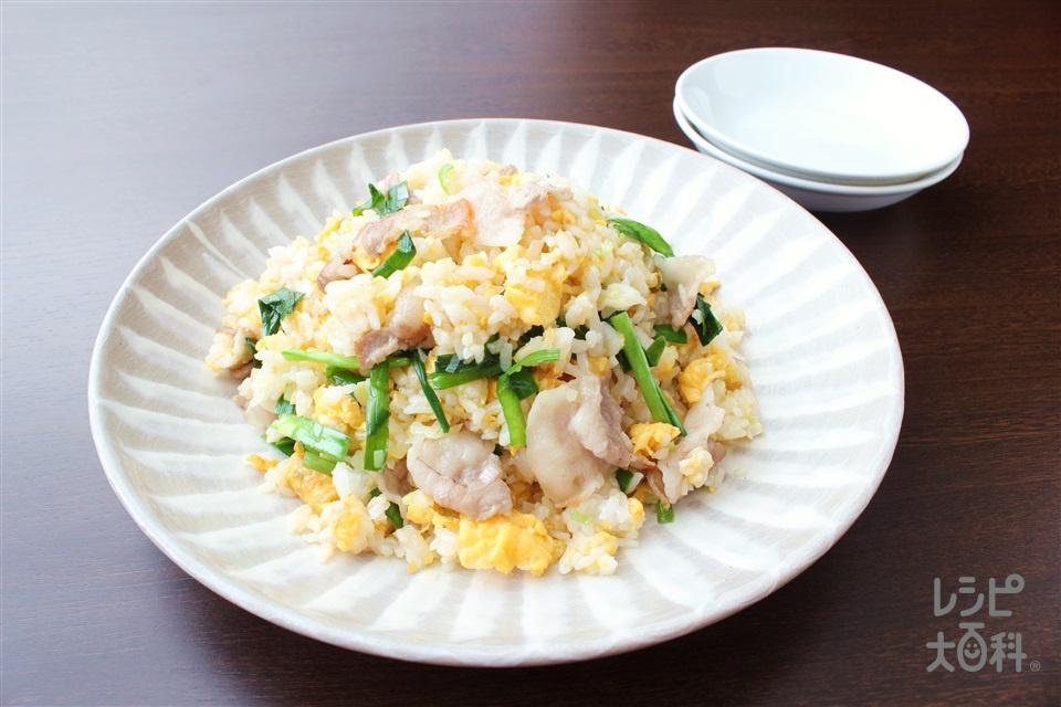 濃厚白湯炒飯(ご飯+豚バラ薄切り肉を使ったレシピ)