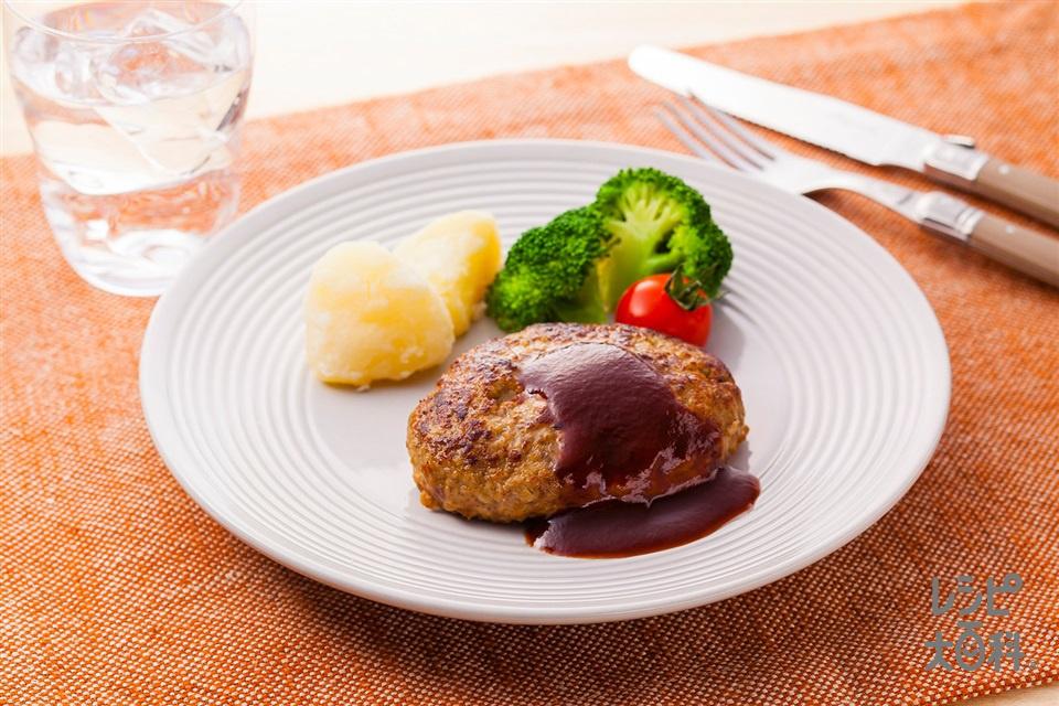 マヨネーズでふっくらハンバーグ(合いびき肉+玉ねぎを使ったレシピ)