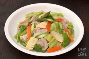 春野菜の八宝菜(豚バラ薄切り肉+春キャベツを使ったレシピ)