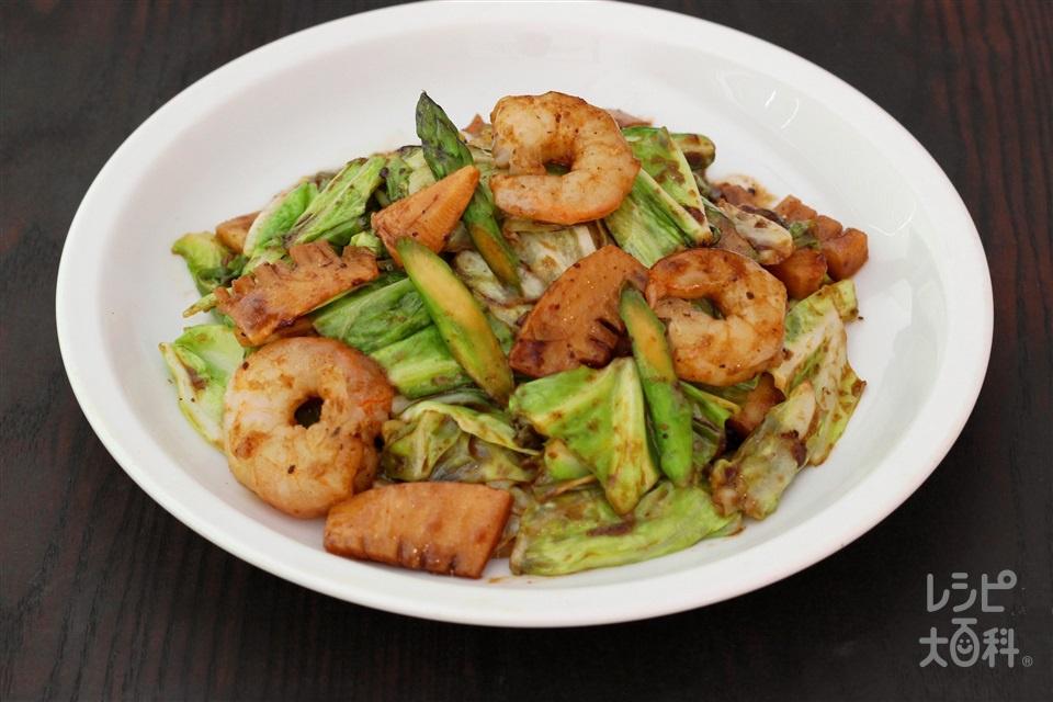 春野菜の回鍋肉(むきえび(大)+春キャベツを使ったレシピ)