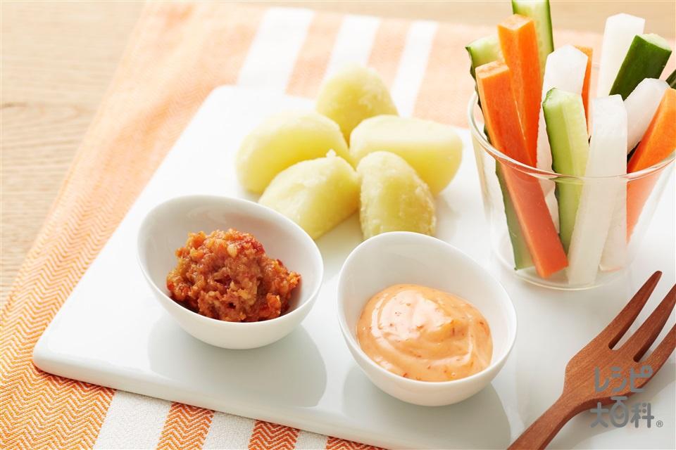 野菜のピリ辛ディップ(大根+じゃがいもを使ったレシピ)