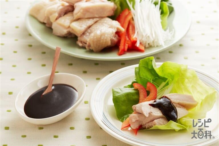 蒸し鶏 甜麺醤ソース