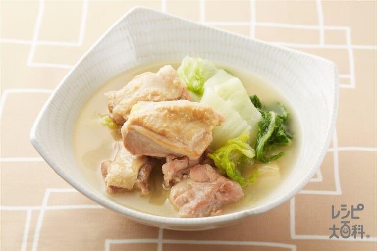 鶏肉と白菜の煮物