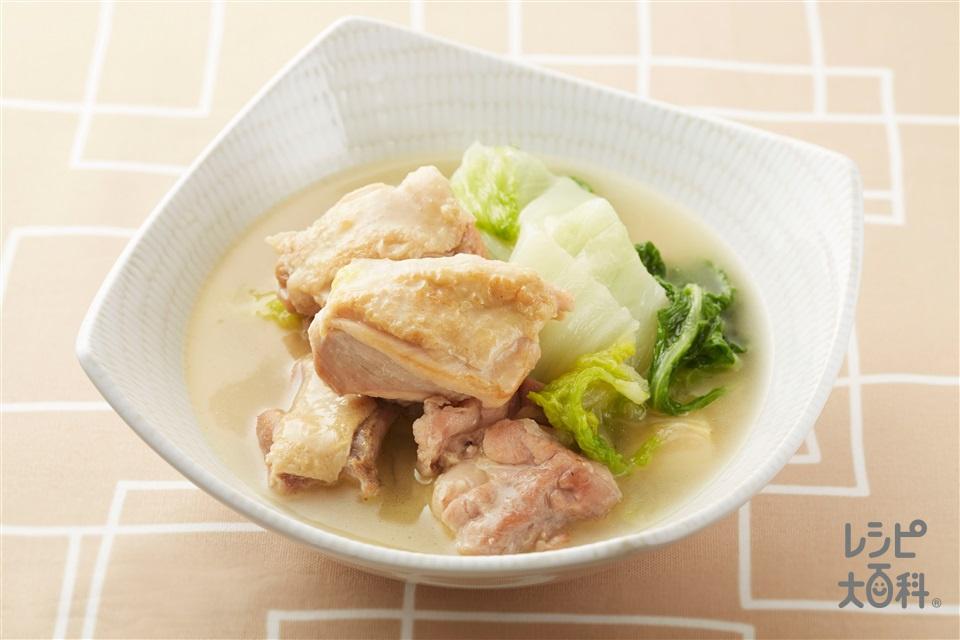 鶏肉と白菜の煮物(鶏もも肉+白菜を使ったレシピ)