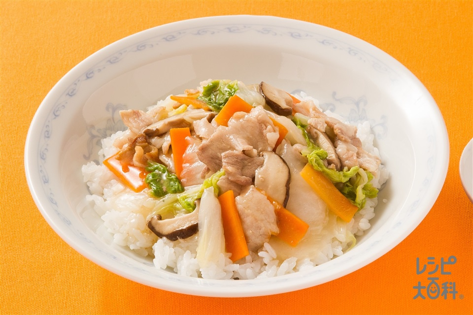 簡単!中華丼(白菜+ご飯を使ったレシピ)