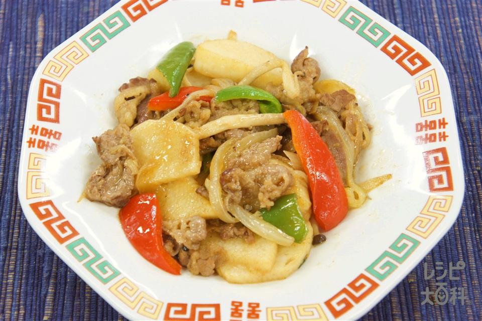 牛肉と長芋のオイスターソース炒め(牛バラ薄切り肉+A酒を使ったレシピ)