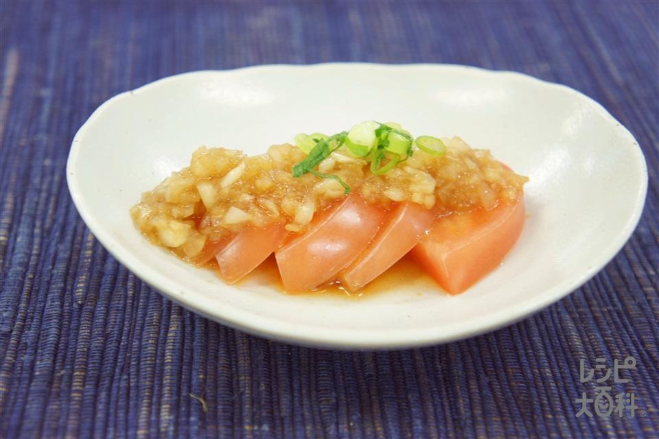 トマトの中華風サラダ(トマト+玉ねぎ(小)を使ったレシピ)