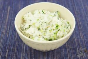 はと麦入り青菜ご飯(米+小松菜を使ったレシピ)