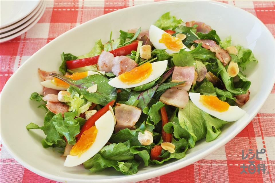「Toss Sala」で簡単シーザーサラダ(グリーンリーフ+ゆで卵を使ったレシピ)