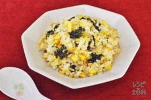 あおさじゃこチャーハン(ご飯+卵を使ったレシピ)