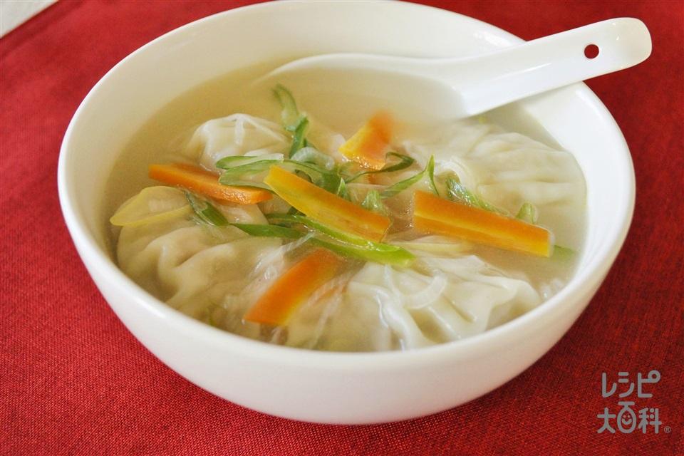 「香味ペースト」でスープ餃子(豚ひき肉+キャベツを使ったレシピ)