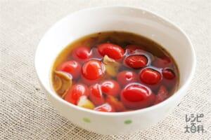 トマトのアヒージョ