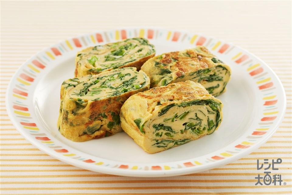 ほうれん草入り卵焼き(卵+A水を使ったレシピ)
