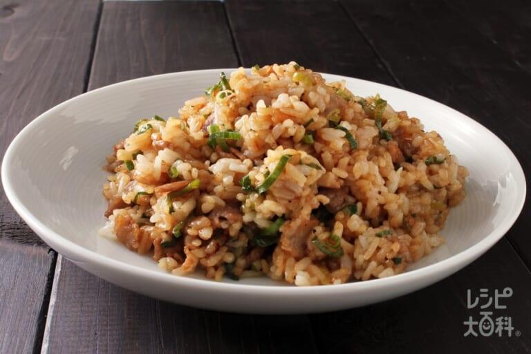豚バラ肉のオイマヨ炒飯