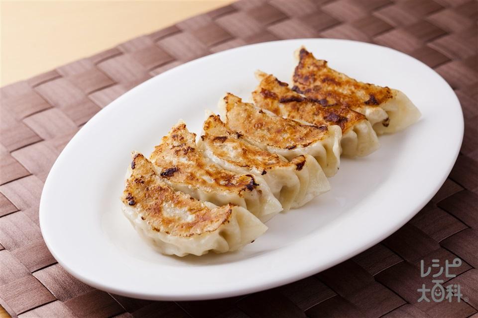 ジューシー餃子(豚ひき肉+白菜を使ったレシピ)