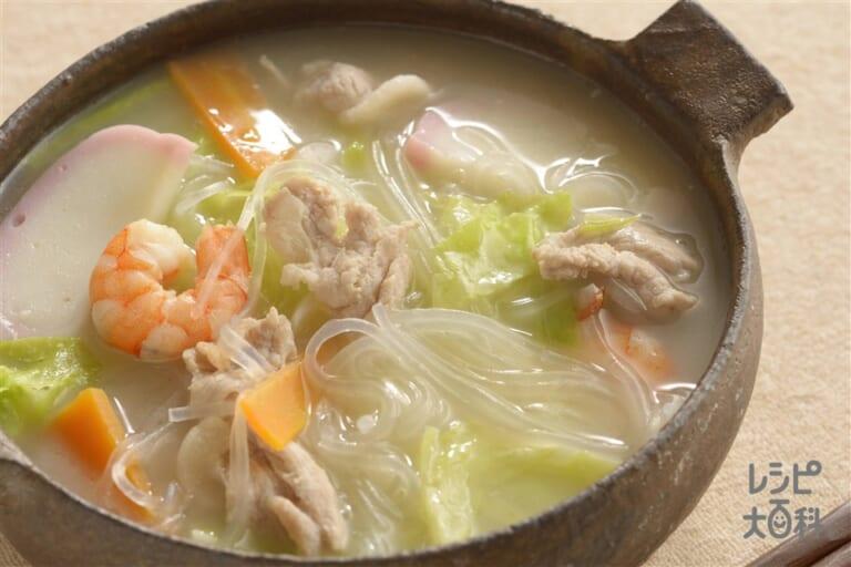 ちゃんぽん風春雨スープ