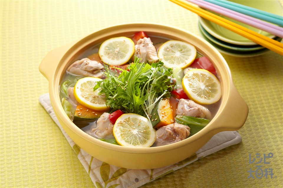 さっぱりレモンのリフレ鍋(鶏もも肉+キャベツを使ったレシピ)