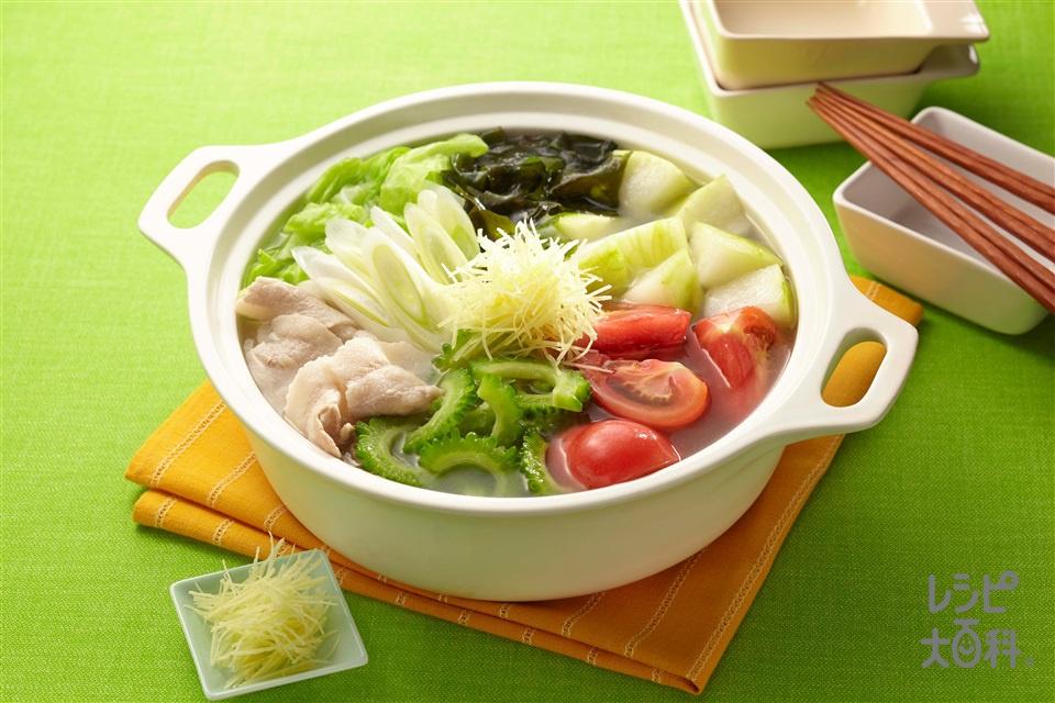 夏のうま塩リフレ鍋(豚バラ薄切り肉+キャベツを使ったレシピ)