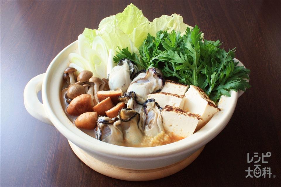 牡蠣のみそ鍋(かき(むき身)+白菜を使ったレシピ)