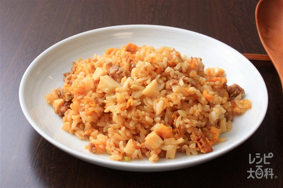 とんこつ味噌炒飯(ご飯+豚ひき肉を使ったレシピ)