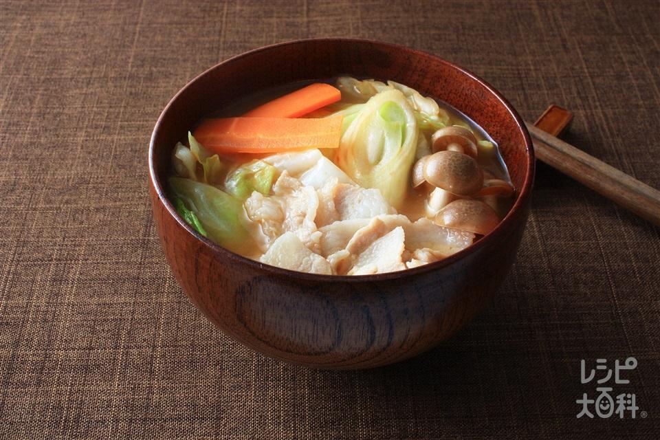 豚きのこ汁(しめじ+キャベツを使ったレシピ)