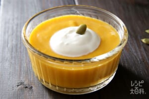 牛乳で作る!かぼちゃのプリン