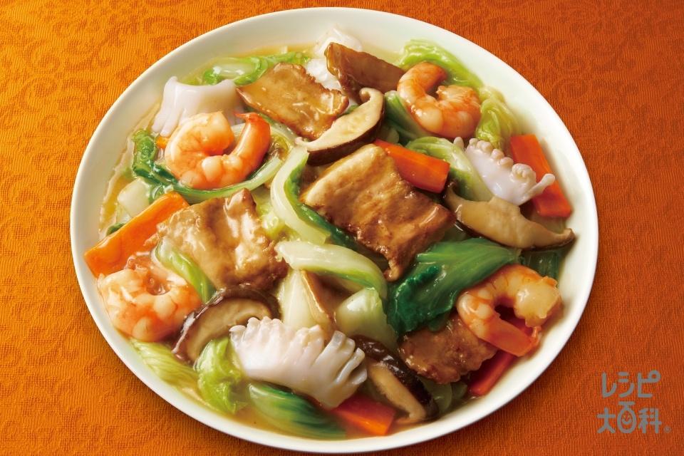 八宝菜(豚バラ薄切り肉+白菜を使ったレシピ)
