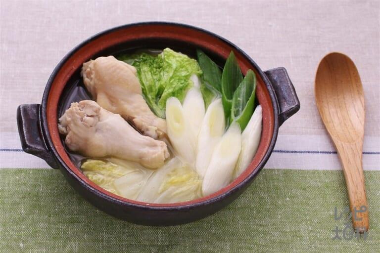 白菜と手羽元の生姜鍋