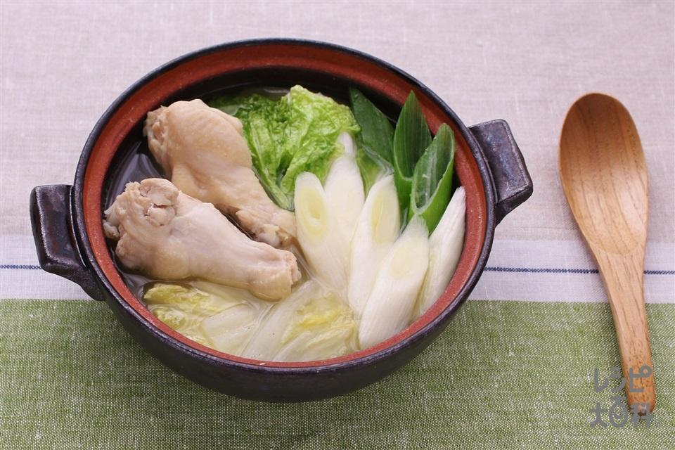 白菜と手羽元の生姜鍋(鶏手羽元+白菜を使ったレシピ)