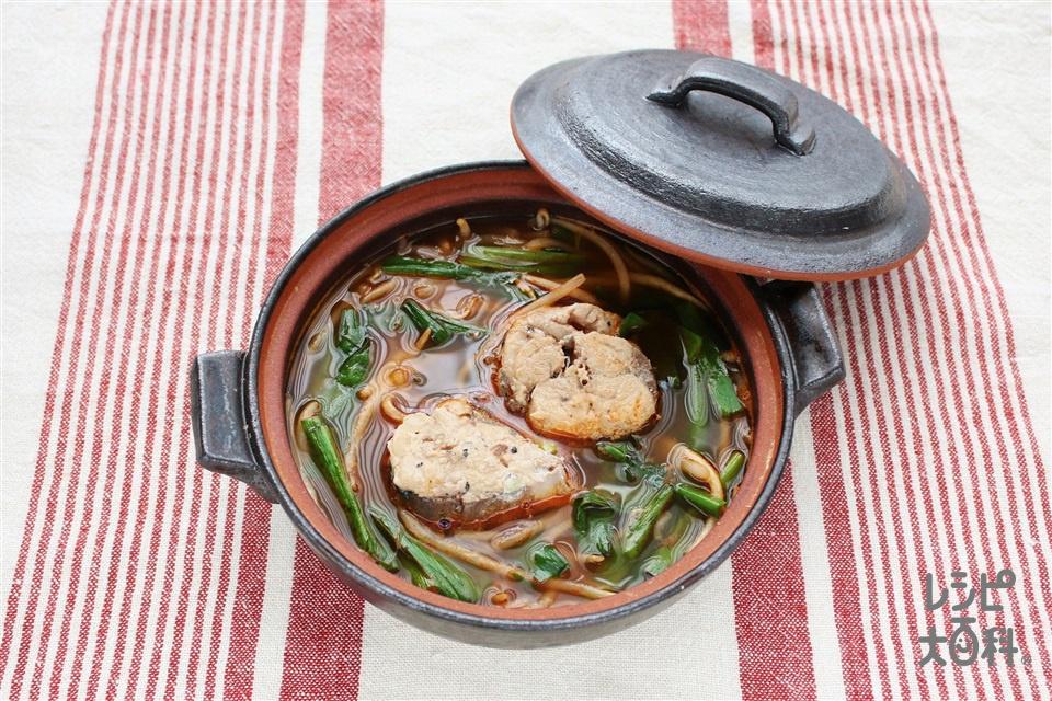 サバ缶でキムチ鍋