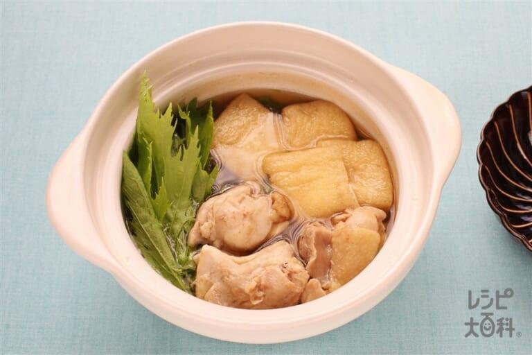 水菜とお揚げのはりはり鍋