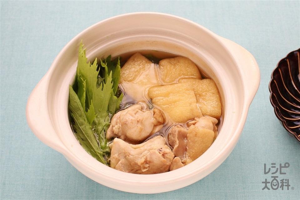水菜とお揚げのはりはり鍋(鶏もも肉+水菜を使ったレシピ)