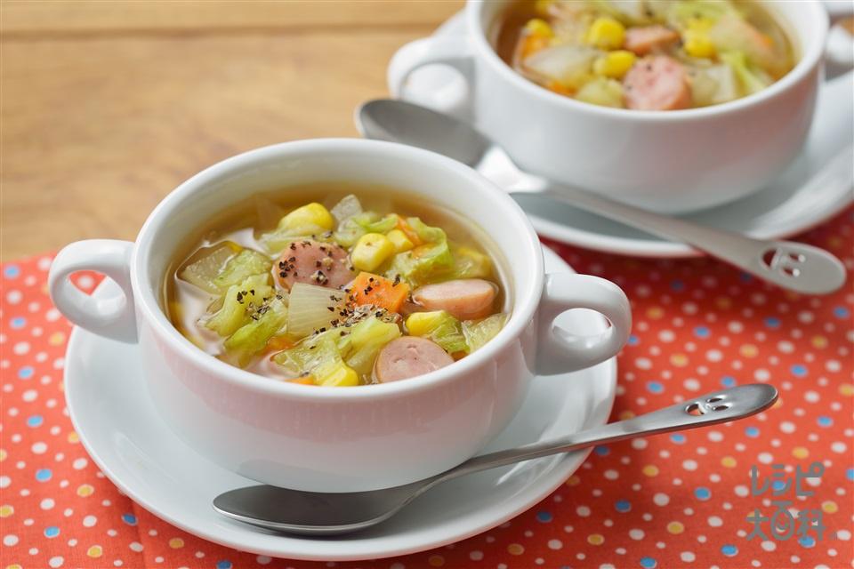 キャベツのチョップドスープ野菜(キャベツ+にんじんを使ったレシピ)