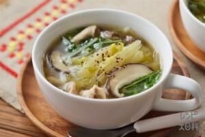 千切り白菜のスープ野菜