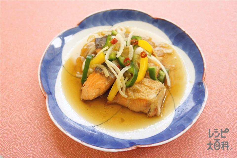 鮭の南蛮漬け(さけ+玉ねぎを使ったレシピ)