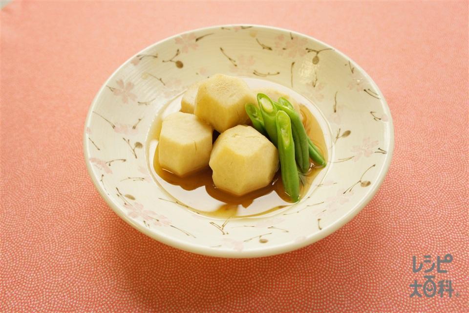 里芋の煮物(里いも+さやいんげんを使ったレシピ)