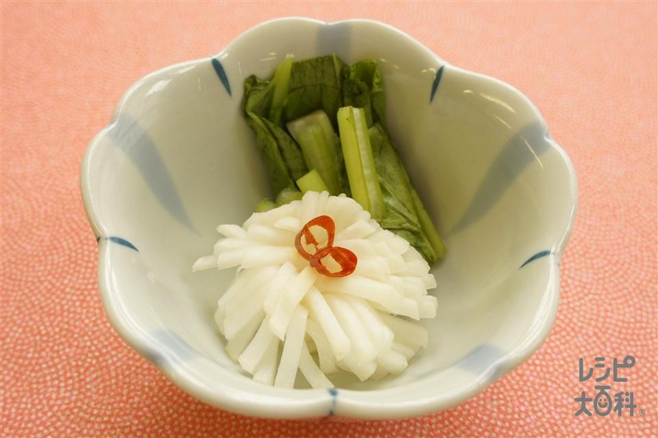 菊花蕪のお漬物(かぶ+かぶの葉を使ったレシピ)