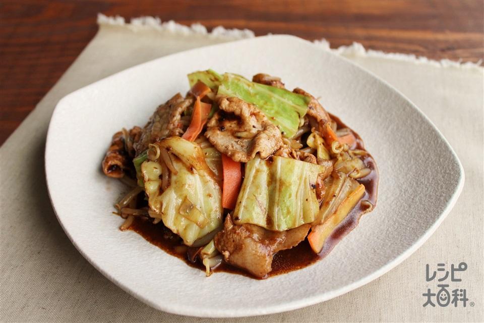 カット野菜の回鍋肉(豚こま切れ肉+袋入りカット野菜(キャベツミックス)を使ったレシピ)
