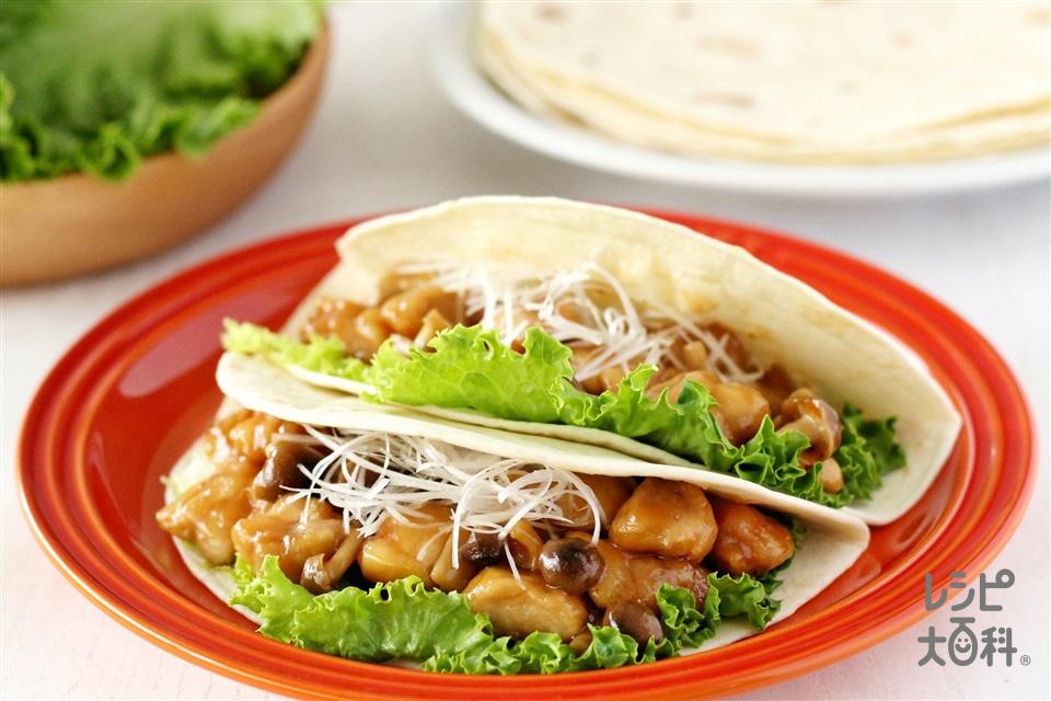 ガリバタタコス(トルティーヤ(ソフト)+鶏もも肉を使ったレシピ)
