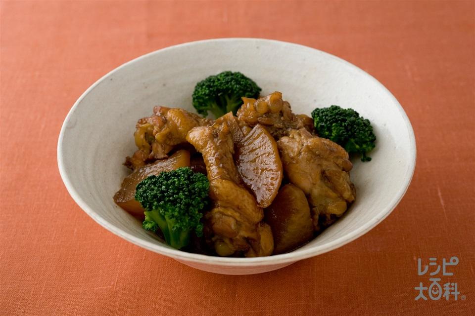 鶏手羽肉と大根の黒酢煮
