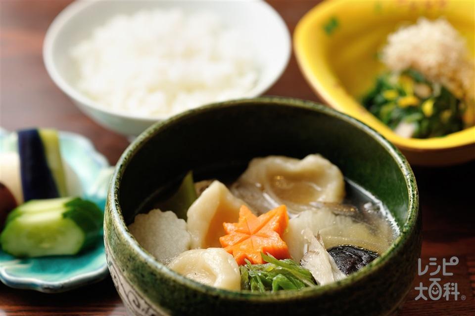 長芋すいとん(鶏もも肉+大根を使ったレシピ)