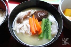 島野菜とアグーの味噌汁