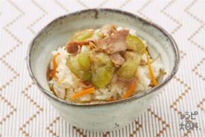 アグーとナーベラーのジューシー(米+豚薄切り肉を使ったレシピ)