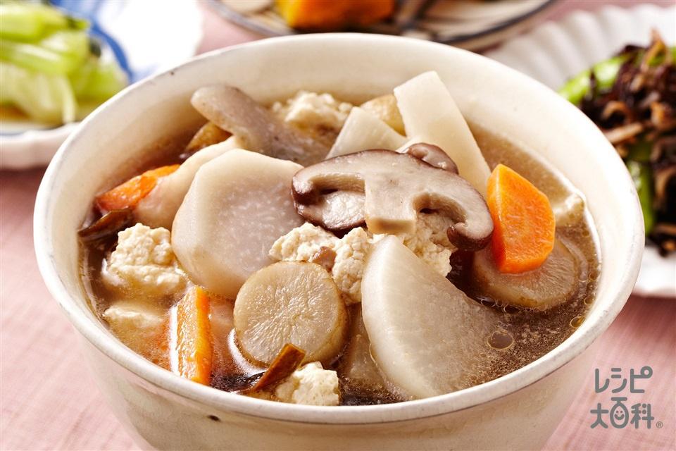 大根とえびいものけんちん汁(木綿豆腐+えびいもを使ったレシピ)
