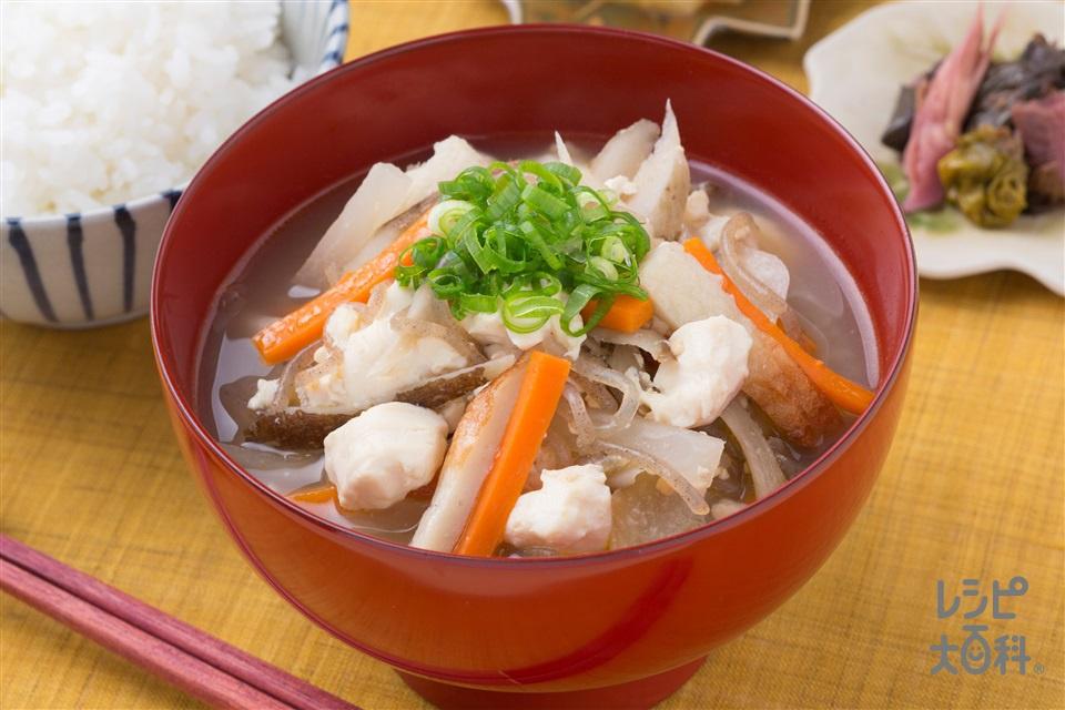 大根とえびいものマヨみそけんちん汁(絹ごし豆腐+えびいもを使ったレシピ)