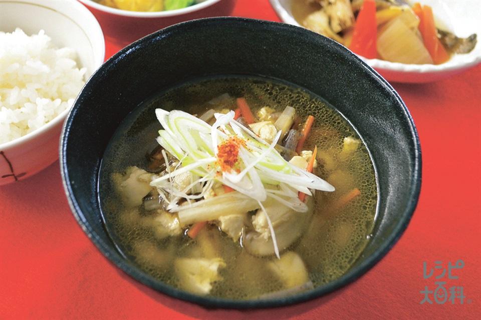 大根と砂丘長芋のけんちん汁(木綿豆腐+大根を使ったレシピ)