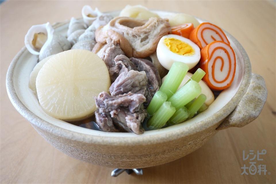 加賀おでん(大根+牛スジ肉を使ったレシピ)